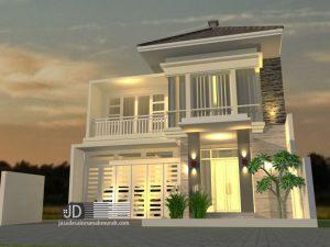 Desain rumah Modern Tropis ibu Riti di Padang