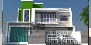 Rumah Bapak Abdul Ghani Jakarta, desain awal minimalis tropis