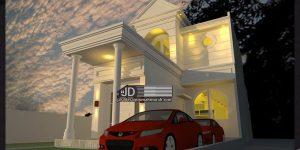 Desain Rumah Eropa Klasik Bapak Naufal di Lampung