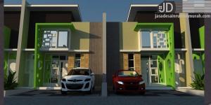 Cluster Bapak Julhijar Lampung, desain rumah minimalis 2 lantai