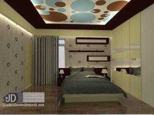 1 view desain interior kamar utama di lantai 2
