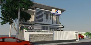 Desain kantor modern tropis PT KMM di Samarinda Kalimantan Timur