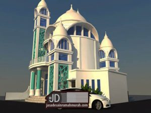 Desain Mushollah modern 2 lantai di Kasembon Malang Jawa Timur