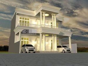 Desain Rumah Eropa Klasik Bapak Rama di Jakarta