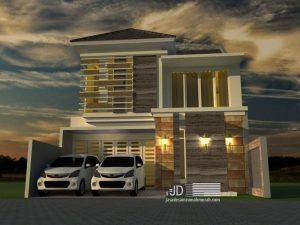 Desain Rumah Modern Tropis Bapak Chiqni Rinaldi di Bekasi