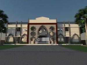 Desain Asrama Bapak Mansur yayasan Permata Nusantara Al Azhaar di Lubuk Linggau