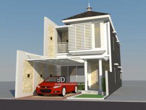 Desain Rumah Modern Tropis Bapak Budi Sutrisno di Malang