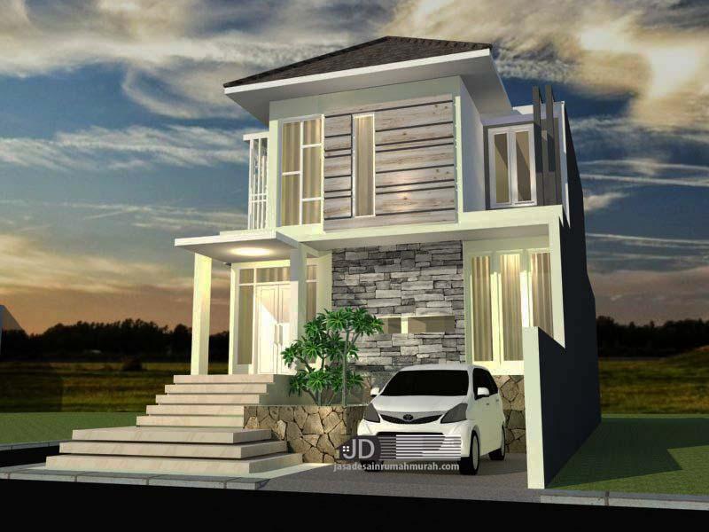 Desain Rumah 2 Lantai Modern Tropis Bapak Farhan di Jakarta