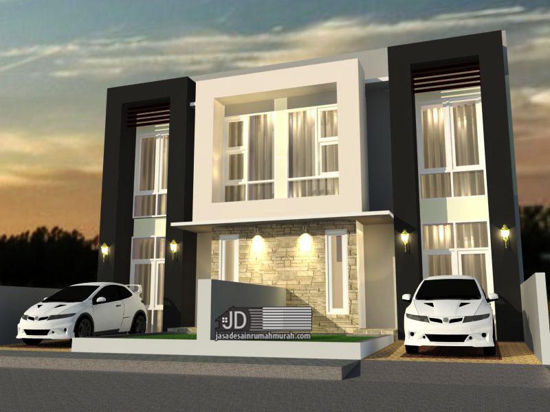 Desain Rumah Modern Kontemporer Ibu Lidia di Jakarta (order kedua)
