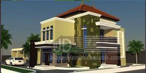Rumah Bapak Hadi di Lampung, posisi hook luas bangun 150m2
