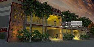 Desain Aula di rest area Bapak Haji Ali di Malang