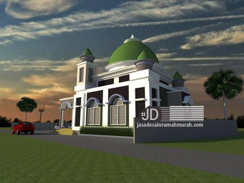 desain masjid 1 lantai