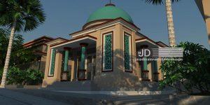 Desain Mushollah Bapak Haji Ali di rest area Pujon Paralayang Malang