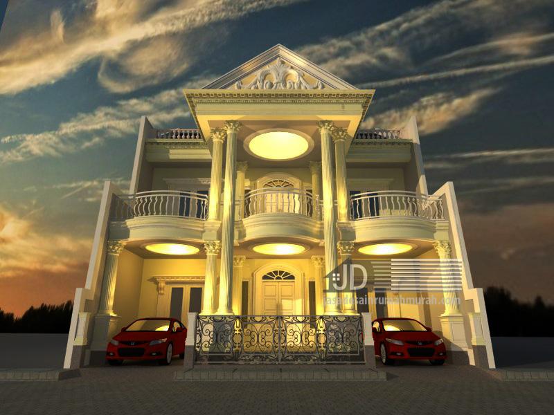 Desain Rumah Eropa Klasik Bapak Rama Gusriyanto di Jakarta