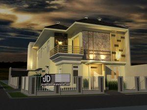 Desain Rumah Kos Modern Tropis Bapak Ken di Malang Dieng