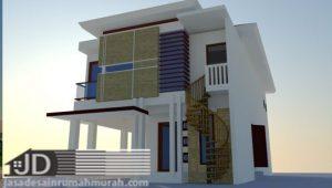 Desain Rumah Modern Tropis 2 lantai Ibu Wiwik di Probolinggo