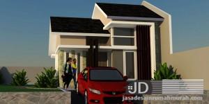 Desain rumah tipe 36 rumah Bapak Chris di Jakarta