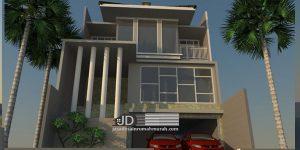 Desain Rumah Modern Tropis Ibu Khusnul Khotimah di Jakarta