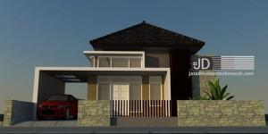 Desain Rumah Ibu Iwayan Sandra di Kupang NTT, desain rumah minimalis 1 lantai