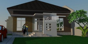 Desain Rumah Bapak John, di Merauke Papua, desain rumah 1 lantai