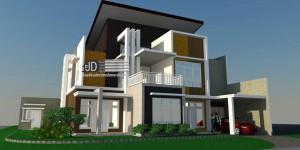 Desain rumah modern mewah Ibu Dita di Bekasi, luas tanah 400 m2