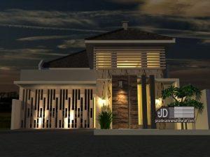 Desain Rumah Modern Tropis Ibu Riti Mingarni di Payakumbuh Padang Sumatra