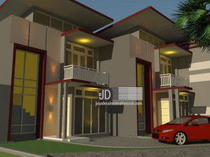 Desain Villa Modern Minimalis di rest area Pujon paralayang