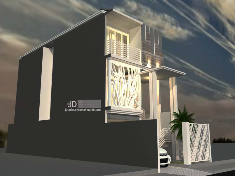 Desain Rumah Minimalis Lebar 3 Meter  desain rumah minimalis 3 lantai di jakarta bapak hafid