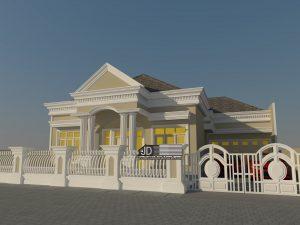 Desain Rumah Eropa klasik bapak Julizar di Lampung