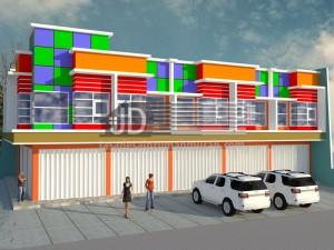 Desain Ruko Bapak Arif di Malang,