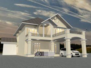 Jasa Desain Rumah 2 Lantai Bapak Laurenz di Flores