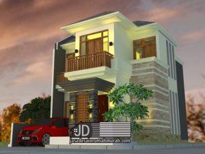 Desain Rumah Ibu Irma di Bogor. Konsep desain Bali modern