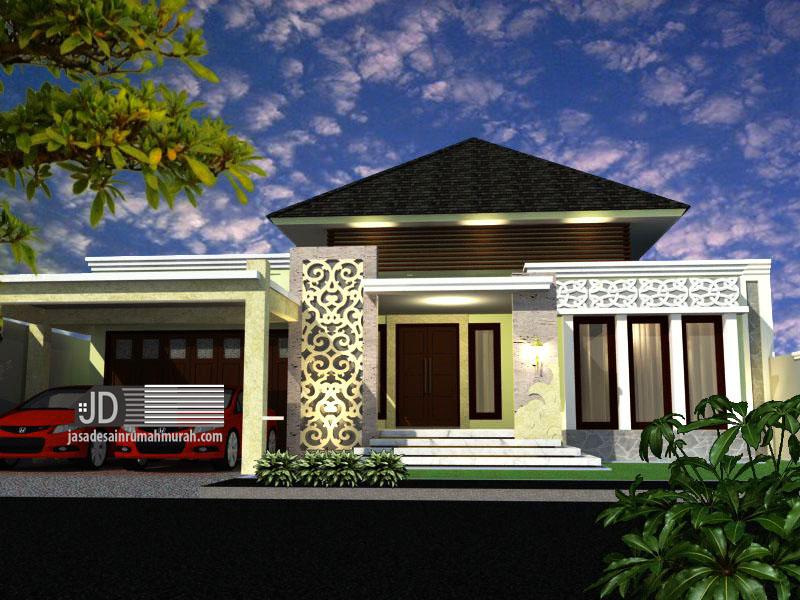 Desain Rumah Bali Modern Bapak Erwin di Cilegon