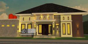 Desain Rumah Ibu Veronika di Lampung, desain rumah 1 lantai