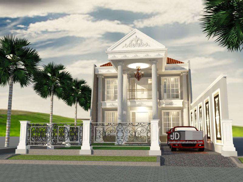 Desain rumah eropa klasik Bapak Yudi Purna Nugraha di Palembang