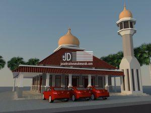 Desain masjid Bapak Yofis di Sumatra Utara