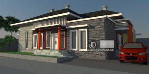 Desain Rumah Ibu Hazal Fitri di Aceh, rumah minimalis 1 lantai