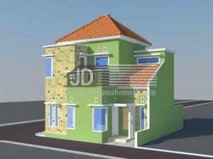 Rumah Ibu Bety Rahmawati, desain rumah 2 lantai