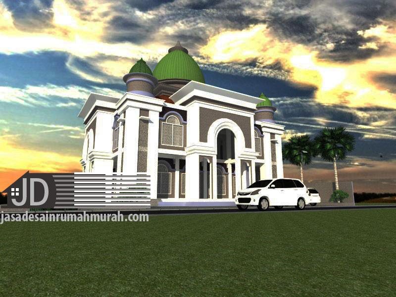 Desain masjid Bapak Zainal di Wlingi Blitar jawa Timur
