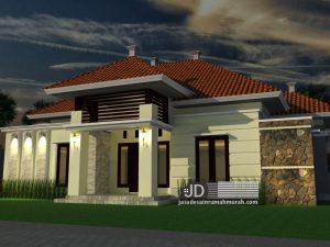 Desain rumah sederhana Bapak Janner di Sumatra