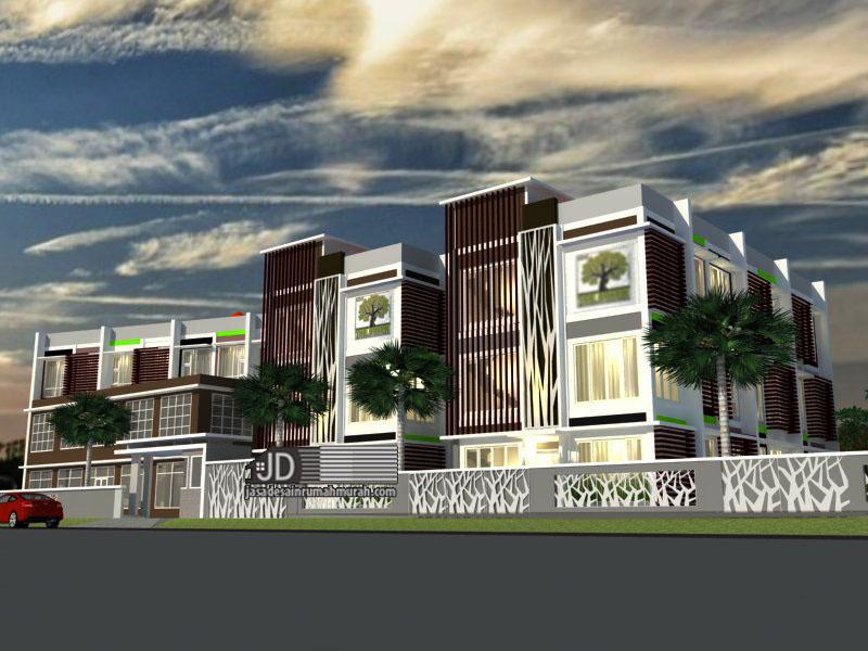 Desain Rumah Kos Mewah The Green Student Village Bapak Erzon Djazai di Bogor (order kedua)