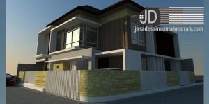 Rumah Bapak Didik Rahmadi di Cilacap, konsep minimalis modern ukuran lahan 15x15