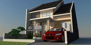 Desain Rumah tipe 75 Bapak Hadi di Solo