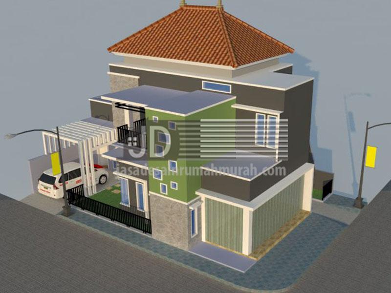 Rumah Bapak Muhammad Syafiudin Kediri luas bangun 190m2 posisi hook & Harga Jasa Desain Rumah Dan Arsitek Murah 2018 Terbaik Profesional