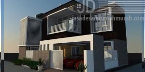 Rumah Bapak Balius Fernandes di Bekasi, konsep rumah modern mewah luas bangun 100m2