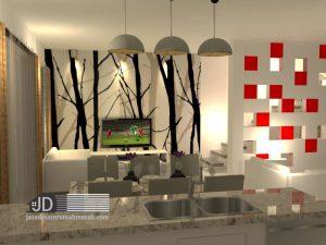 Pengaturan Desain Interior Ruang Makan