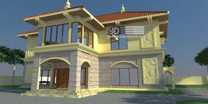 Rumah Bapak Aidir Amin Daud konsep desain rumah portugis luas 400m2