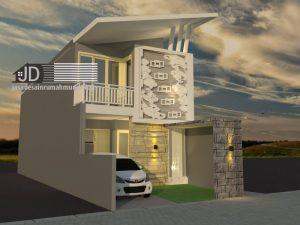 Desain Rumah 2 lantai ibu Ima di Jakarta
