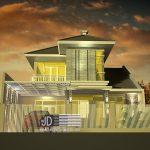 Desain Rumah Ibu Enta di Malang