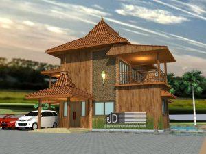 desain rumah jawa 2 lantai